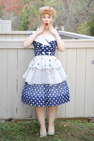 46 awesome costumes for every hair color 50s costumecostume ideashalloween costumeshalloween ideasdisney costumeshalloween makeupi love lucy - I Love Lucy Halloween Costumes