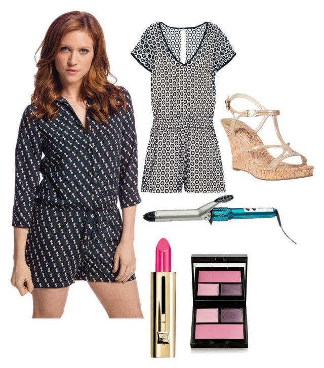 Chloe from Pitch Perfect 2 by maddyforauburn on Polyvore featuring polyvore, fashion, style, J.Crew, MICHAEL Michael Kors, Surratt and Guerlain