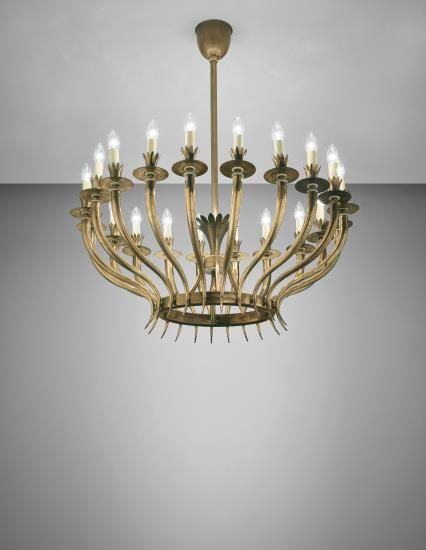 PHILLIPS : NY050215, Attributed to Gio Ponti and Emilio Lancia Large and important chandelier , circa 1930