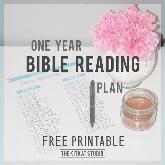 The Kitkat Studio: Free Printable // One Year Bible Reading Plan