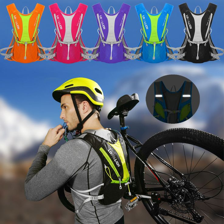 5L Running Hydration Water Backpack Outdoors Camping Hiking Marathon Vest Pack #Unbranded