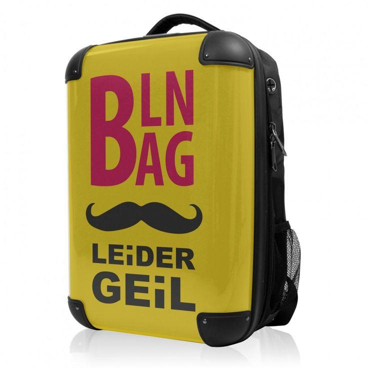 """BLNBAG - Rucksack Weich/Hart Hybrid Design: Leider geil in Gelb, 50 cm, 28 Liter; Gelber #Rucksack aus der Serie """"BLNBAG"""" von #Hauptstadtkoffer.  #Hartschalenkoffer #Handgepäck #Gelb #Koffer #Travel #Luggage #Reisen #Urlaub #yellow #Leidergeil => mehr Gelbe Koffer: https://hauptstadtkoffer.de/de/reisegepack/alle-produkte?color=134"""