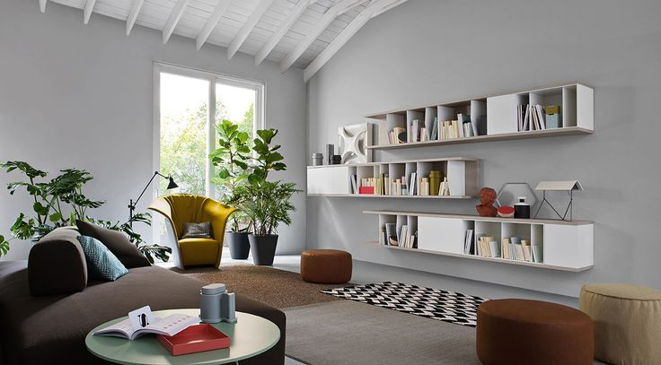 Das Novamobili Wand- Bücherregal Butterfly passt in jedes Raumkonzept.  #regal #wandregal #bücherregal #wohnzimmer #livingroom #furniture #modern #minimalistisch