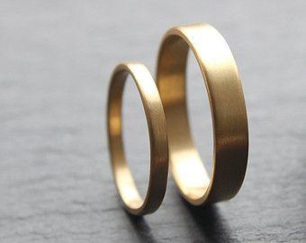 Ähnliche Artikel wie Diamanten und Gold - Ehering-Set auf Etsy