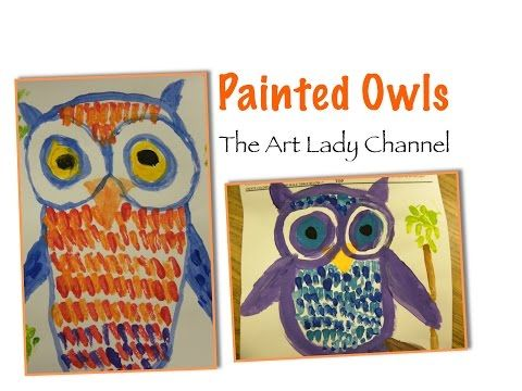 Easy Owl Painting - YouTube