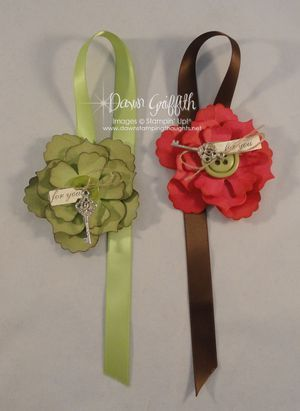 flower and ribbon bookmark