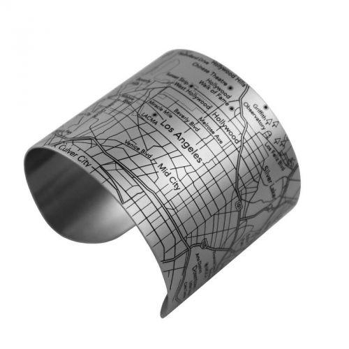 Le #bracelet manchette en acier inoxydable représentant un #plan de Los Angeles  Prix 42 euros TTC #LosAngeles