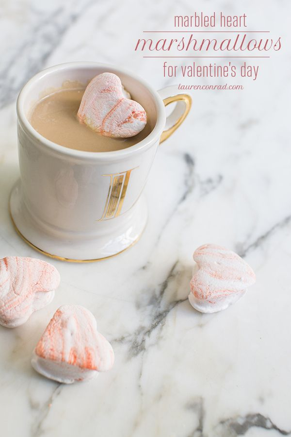 Valentine's Day Marbled Heart Marshmallows