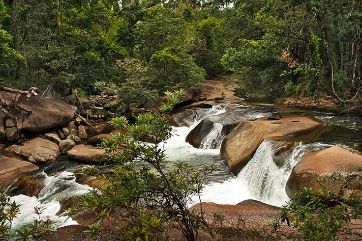 Waterfall at Babinda Boulders in the Atherton Tablelands of Northeast Australia