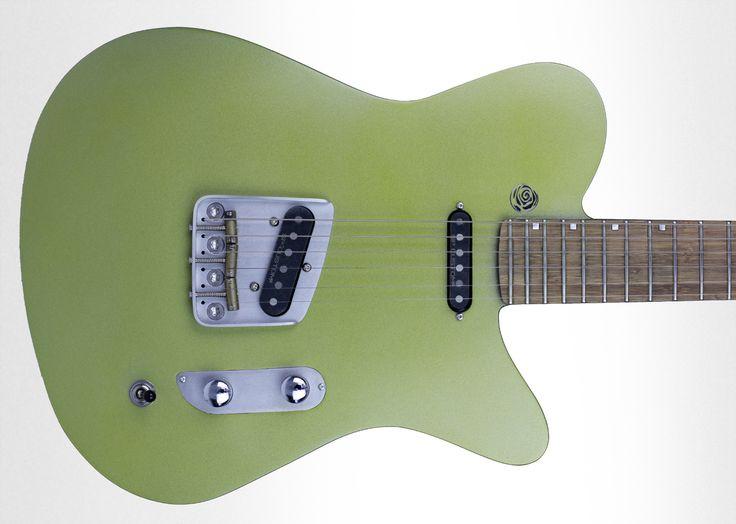 """T-Skin """"Froggy"""", Telecaster style,  Les guitares SAN LORENZO sont fabriquées artisanalement en matériaux composites  (fibres de carbone ou naturelles). Nous proposons une luthierie fine et innovante de modèles lap steel acoustiques et  electriques ou autres guitares acoustiques et electriques"""