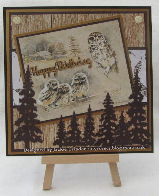 Tinyrose's Craft Room: Pollyanna Pickering - Little Owl Birthday Card