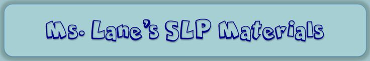 Ms. Lane's SLP Materials-speech therapy worksheets and activities, whether you are a speech-language pathologist, a teacher, or a parent. Pinned by SOS Inc. Resources @sostherapy.