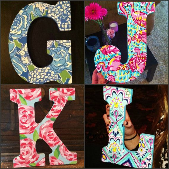 I spend approx. 4-5 hours painting each letter, deciding exactly how to fit the pattern onto the letter to make it look best, and going over