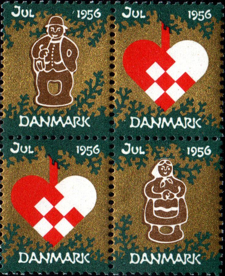 Danish Christmas Seal 1956