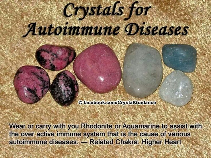 Crystals for Autoimmune Disease - rhodonite and aquamarine.  No wonder I'm so drawn to rhodonite, bought 10 lbs of slabs and didn't know why!!