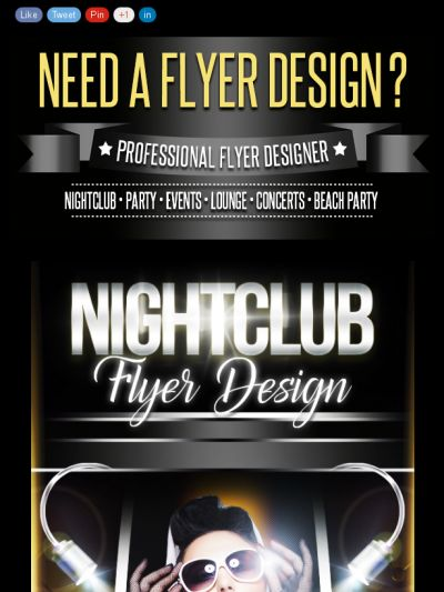 Need a Professional FLyer Design