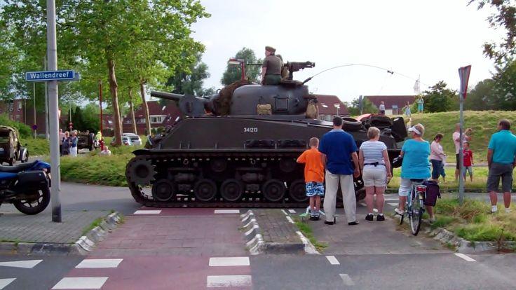 Kleine tank van dichtbij gezien