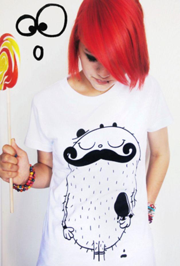 "Shirt ""Mr. Moustache"" // shirt by cute monstR via DaWanda.com #movember"