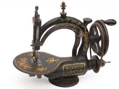 Extremely RARE Jackson Sewing Machine A COUDRE Naehmaschine British About 1869 | eBay