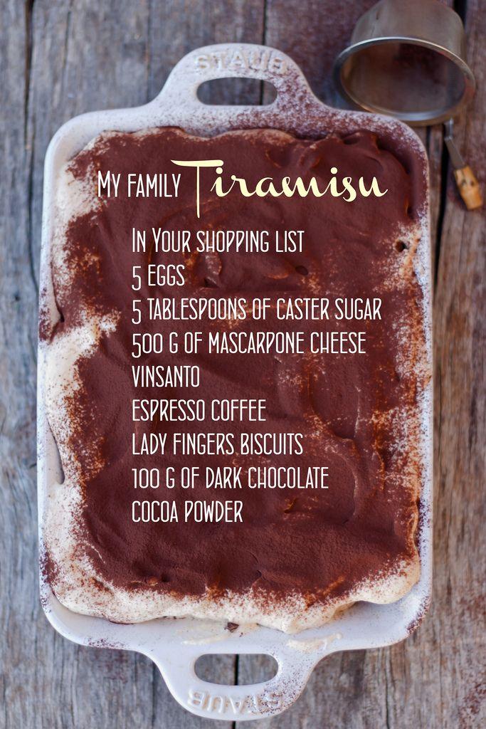 Tiramisu from and Italian recipe