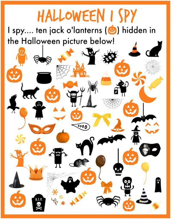 i spy halloween - Free Preschool Halloween Printables
