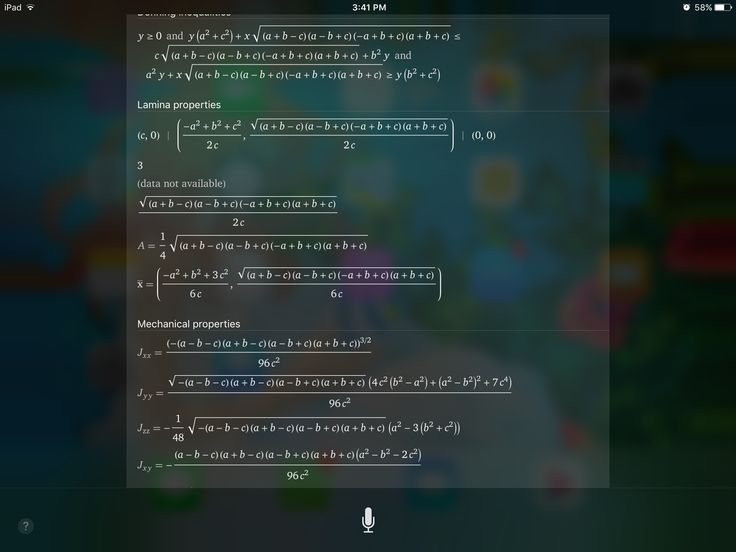 So  I asked Siri to teach me how to find the area of an equilateral triangle . I think it showed me Latin