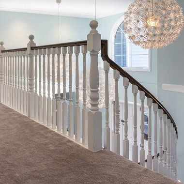 Curved Stairway with Colonial Timber Balustrade NZ
