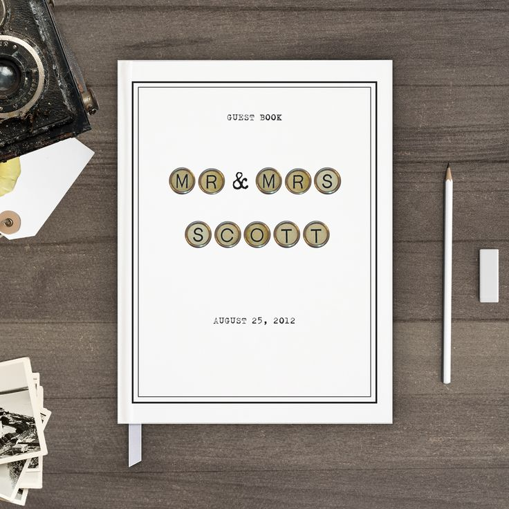 Nostalgic Imprints Inc. - Vintage Typewriter, Rustic, Chic and Shabby Wedding Guest Book