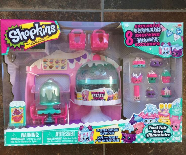 Shopkins Season 5 Frosted Cupcake Queen Cafe with 8 Exclusive Frosted Shopkins | eBay