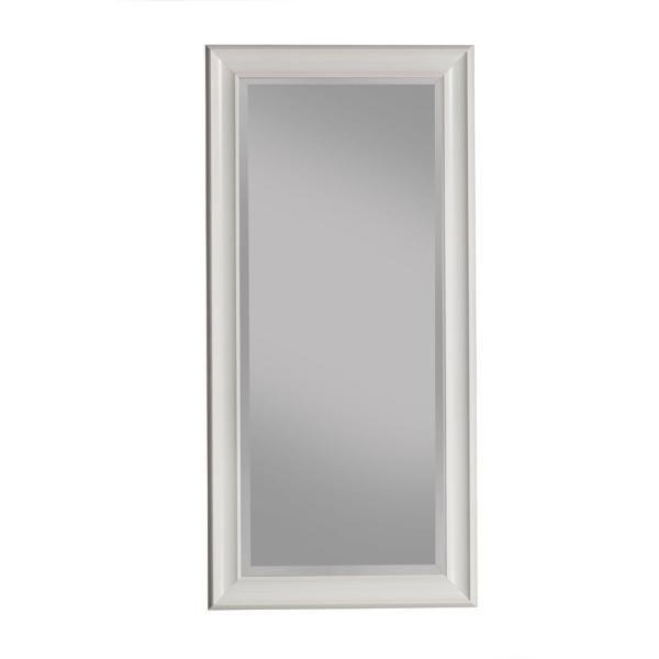 Martin Svensson Home Oversized White Plastic Beveled Glass Full Length Classic Mirror 65 In H X 31 In W 13011 The Home Depot Leaner Mirror Classic Mirror Floor Mirror