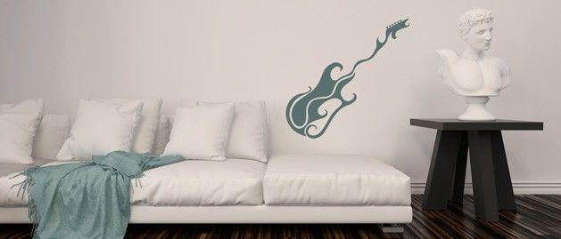 Kytara C (1094) / Samolepky na zeď, stěnu a nábytek