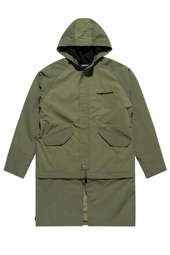 The Hundreds Swim Forest Mens Parka jacket coat Size.S, M.L   --- T16W10 302