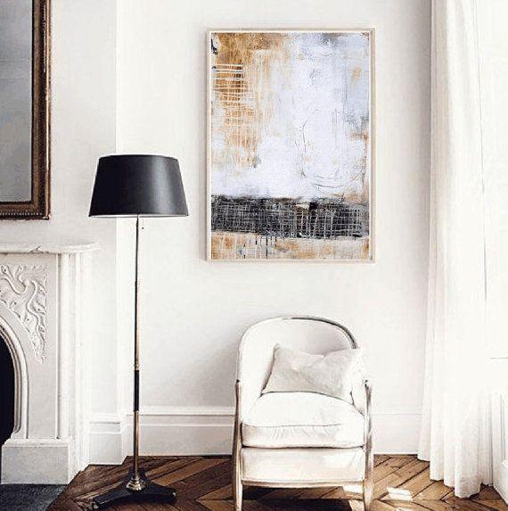groot schilderij mooi abstract schilderij textuur door jolinaanthony