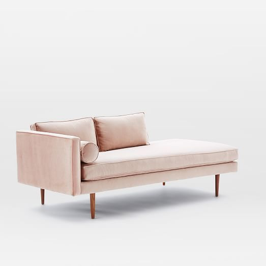 Monroe Mid-Century Left Arm Chaise Lounger | west elm