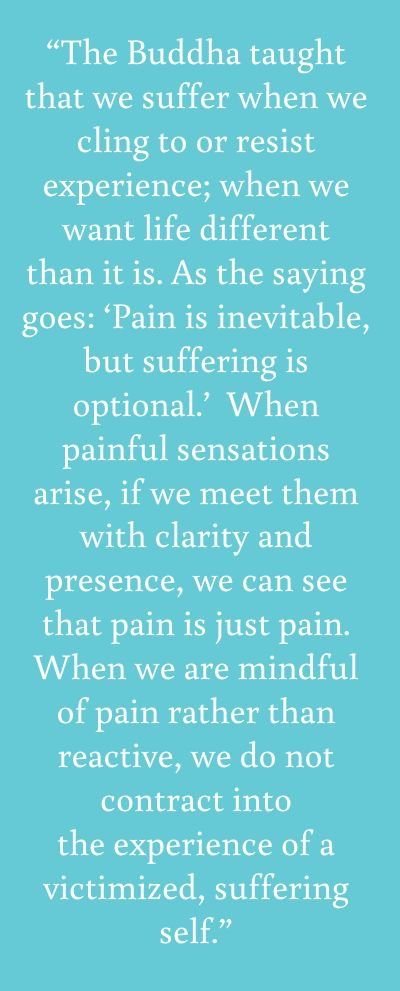 Pain is inevitable, as are stressors; Suffering is optional. Avoidance and rumination are unhelpful and unnecessary. Acceptance allows problem-solving and peace.