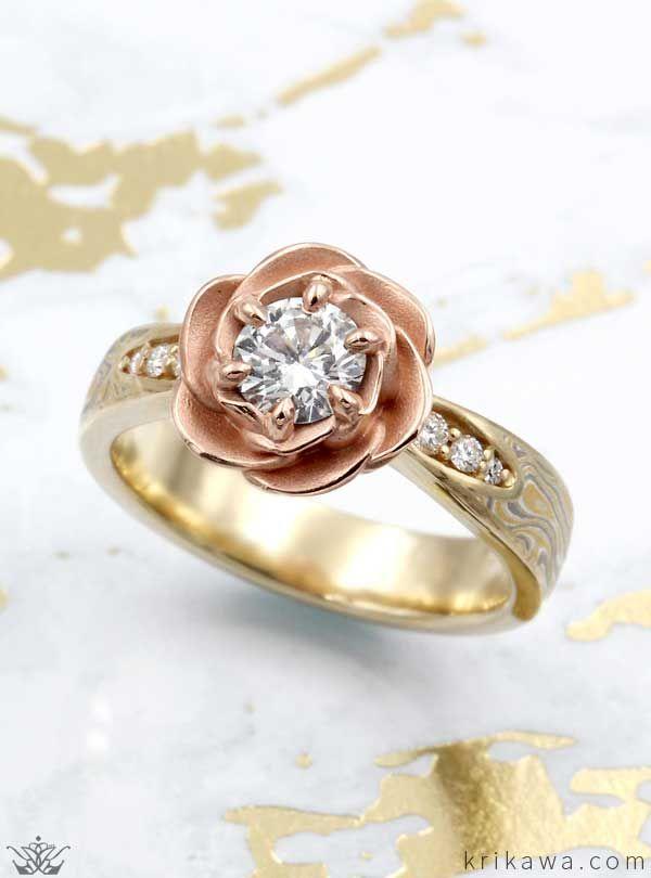 mokume rose blossom engagement