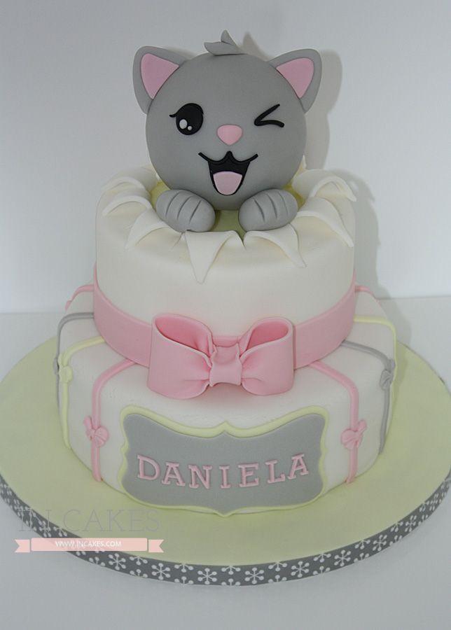tarta gato gris Galería   IN Cakes