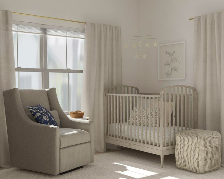 Serene And Gender Neutral Nursery Design Ideas