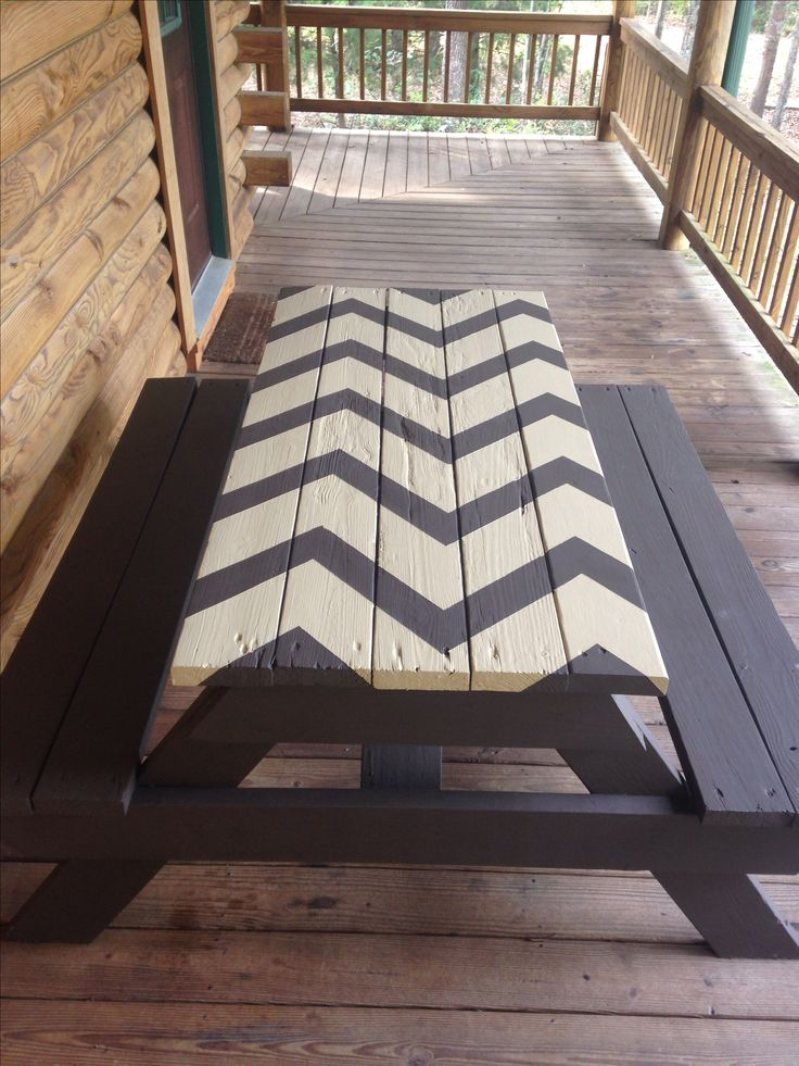 Chevron picnic table!  I think YES in yellow and grey!