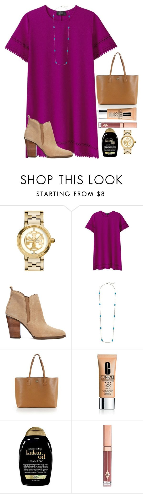 """700 followers☺️"" by emmagracejoness ❤ liked on Polyvore featuring Tory Burch, MICHAEL Michael Kors, Kendra Scott, Clinique, Organix and Charlotte Tilbury"