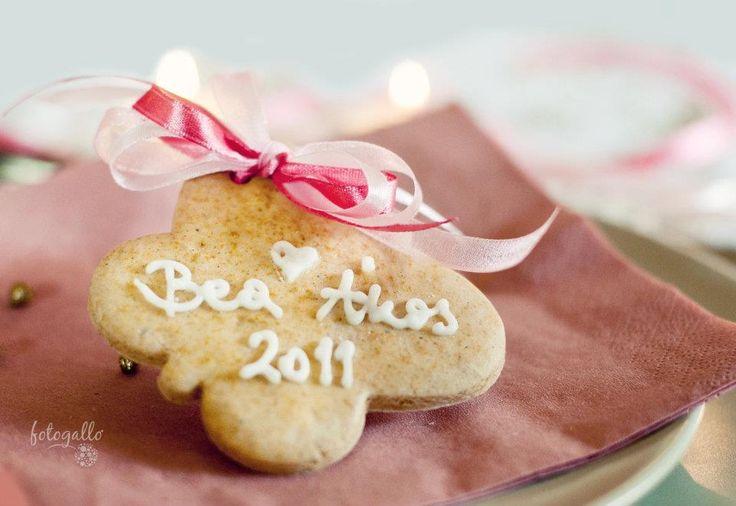 Esküvői mézeskalács köszönetajándék - Wedding gingerbread favors