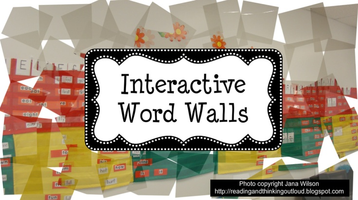 Interactive Word Wall Activities NOTE: This sight is full of super suggestions and tips.
