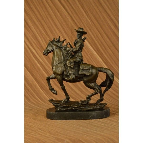 Western Decor On Sale: ON SALE !!! Country Western Cowboy Horse Bronze Marble