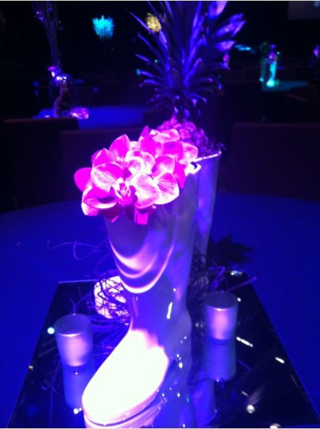 Orchid boot centrepiece