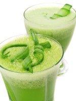 Recept Slasap met Komkommer Groentesap met een beetje citroen. Lekker fris en gezond drankje.