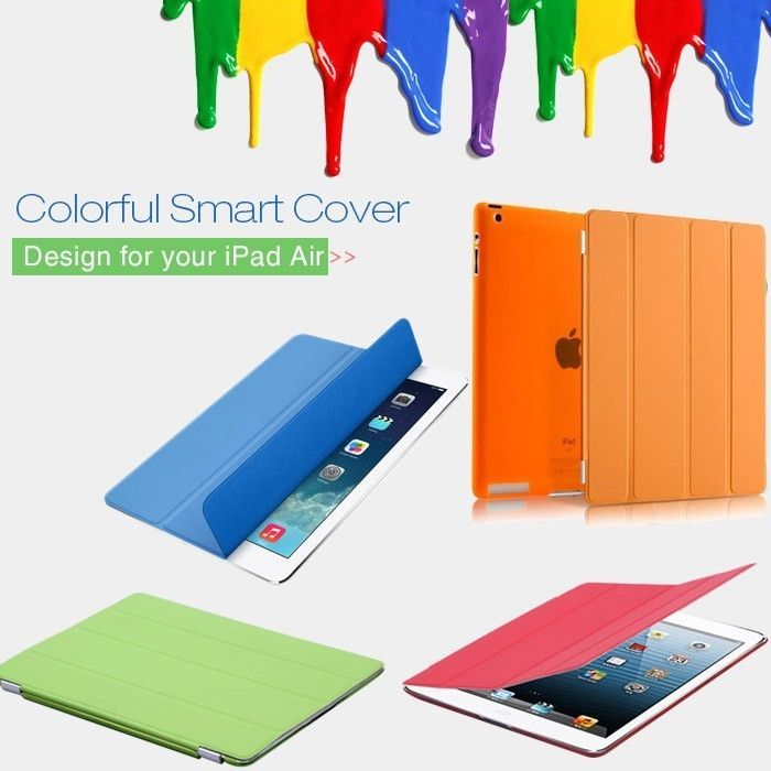 Slim Smart Magnetic PU Leather Cover With Hard Back Case For Apple iPad Air 5th #UnbrandedGeneric