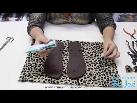 DIY - Chinelos customizados com tecido - Vida de m - YouTube