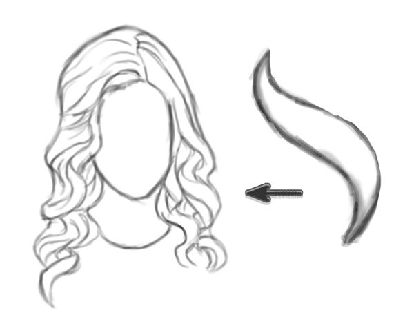 How To Draw Curly Hair Really Easy Drawing Tutorial Drawing Hair Tutorial Flower Drawing Tutorials Drawing Tutorial Easy