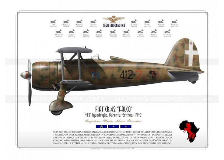 """FIAT Cr.42 """"Falco"""" Regia Aeronautica KB-04"""