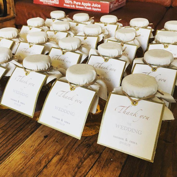 結婚式のプチギフトに『マルティネリ』の瓶のラッピングアイデア | marry[マリー]